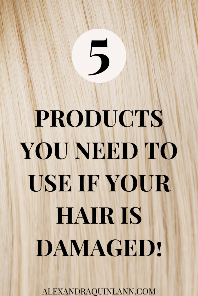 5 products you need to use if your hair is damaged