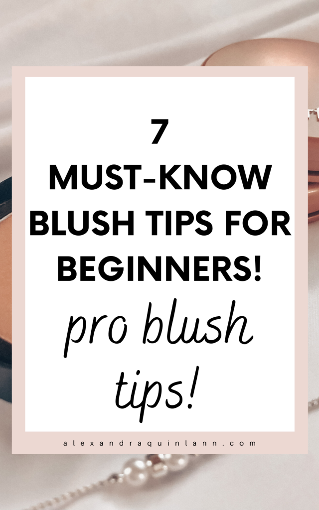7 must-know blush tips for beginners