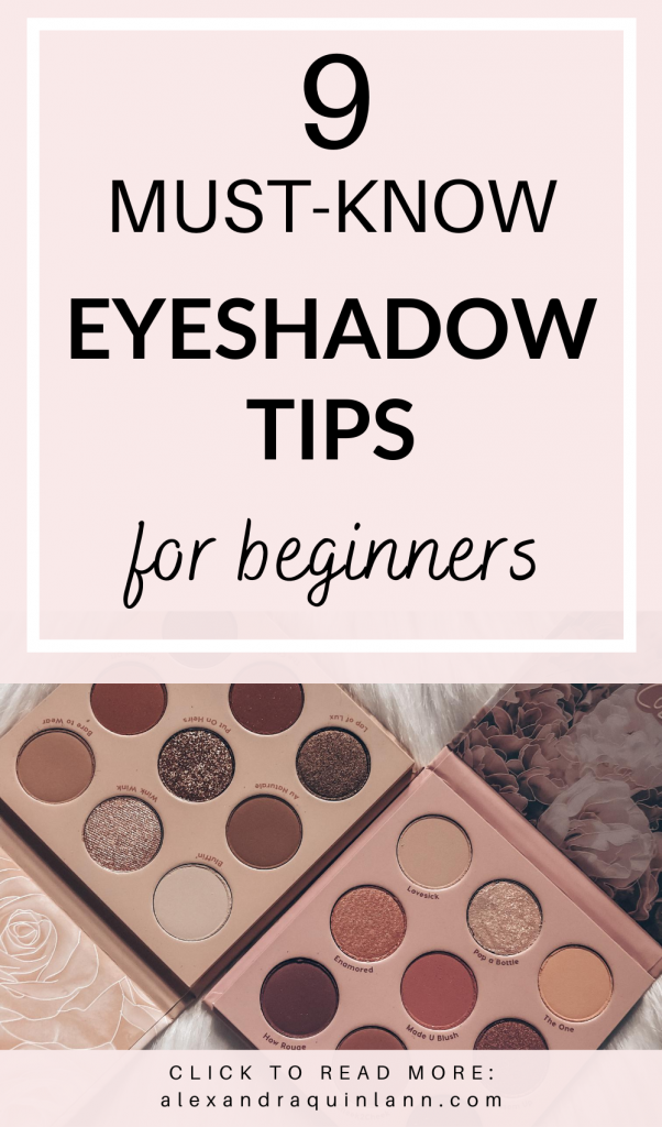 9 must-know eyeshadow tips for beginners