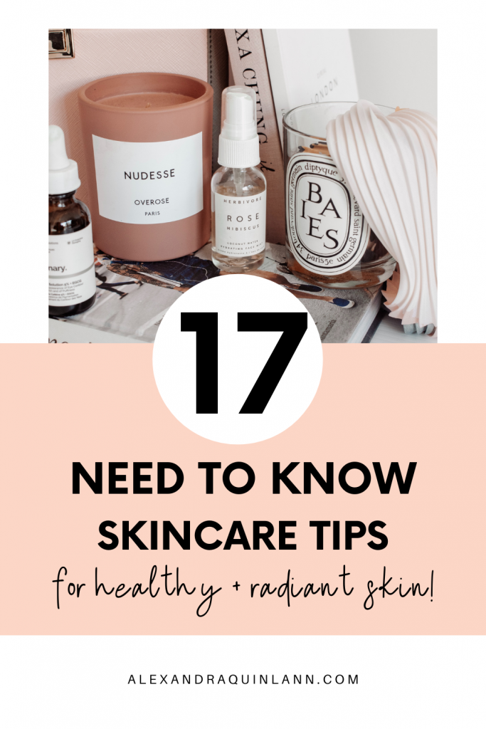 need to know skincare tips
