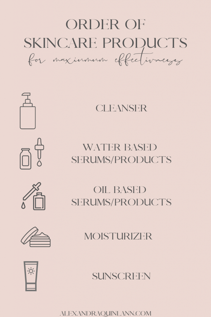 SKINCARE TIPS: ORDER OF SKINCARE PRODUCTS