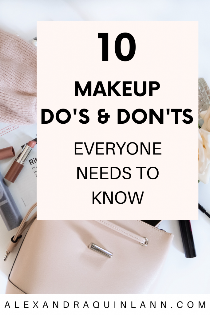 makeup do's and don'ts you need to know